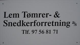 Lem Tømrer & Snedkerforretning a/s